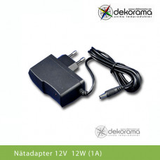 LED Nätadapter 12W (1A) 12VDC IP20