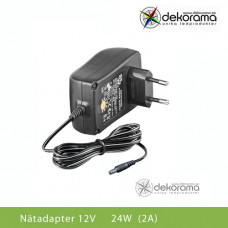 LED Nätadapter 24W (2A) 12VDC IP20