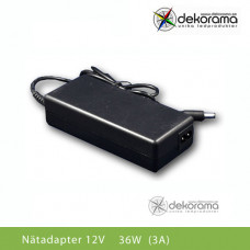 LED Nätadapter 36W (3A) 12VDC IP20