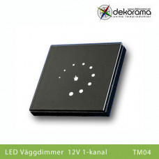 LED Väggdimmer 12v LED Touch 1-kanalsdimmer